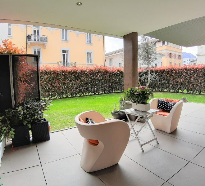 Apartment with garden in Lugano